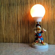 Uncle Scrooge light at Fuglen in Oslo, Norway.