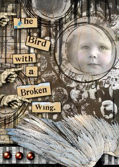 ATC: The Bird. Created with Broken Wings Collection by Altered Amanda Studio available at Go Digital Scrapbooking. Thanks for looking!