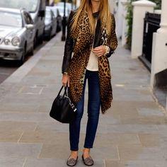 YSl Leopard print scarf