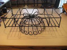 diy hanging pot pan rack, kitchen design, repurposing upcycling, storage ideas, After painting