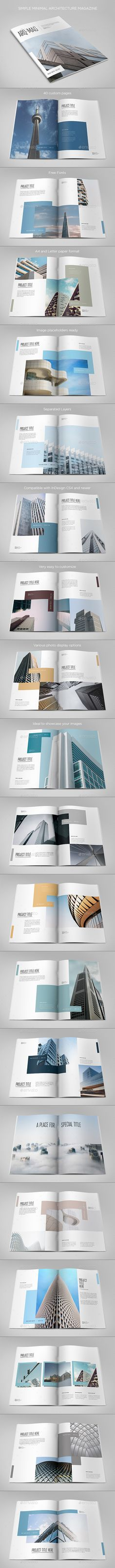 Simple Minimal Architecture Magazine by AbraDesign SIMPLE MINIMAL ARCHITECTURE MAGAZINEClean, modern and simple design ideal for any purposes. Very easy to adapt and customize. DET