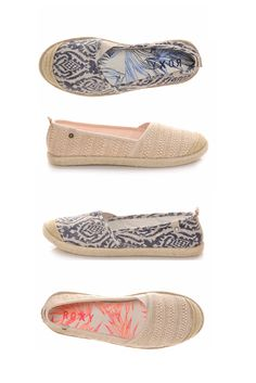 You know you want them. The espadrille is a summer staple, now available in these pretty prints. #roxy