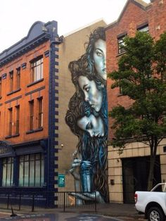 A beautiful piece by American artist Christina Angelina om the wall of The Irish News Belfast