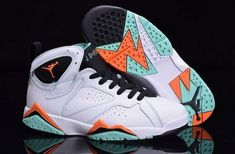 0c945e91258f Official 2015 new jordan retro 7 vii mens white black green red shoe on sale