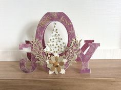Tattered Lace JOY Christmas Card 3d Cards, Pop Up Cards, Christmas Cards, Christmas Ideas, Tattered Lace Cards, Card Sketches, Christmas Inspiration, New Baby Products, Card Making