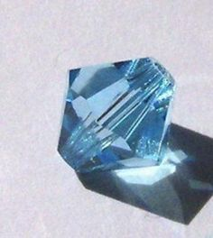 24 Swarovski elements crystal beads 6mm BICONE crystal beads Aquamarine