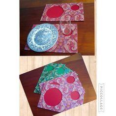 Jogo Americano Mosaico Vermelho, pode ser usado na mesa ou no colo pra quem adora comer no sofá!   www.munayartes.com