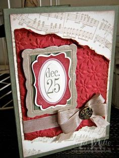 Music Tags Til Christmas by Tina.White - Cards and Paper Crafts at Splitcoaststampers