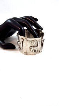 Vintage Peruvian Peru Bracelet Sterling by GalleryThreeSixty