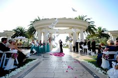 Sara and Chad's Wedding Ceremony at The St. Regis Monarch Beach