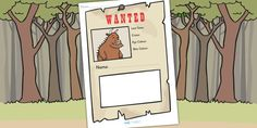 The Gruffalo Wanted Poster Writing Frames