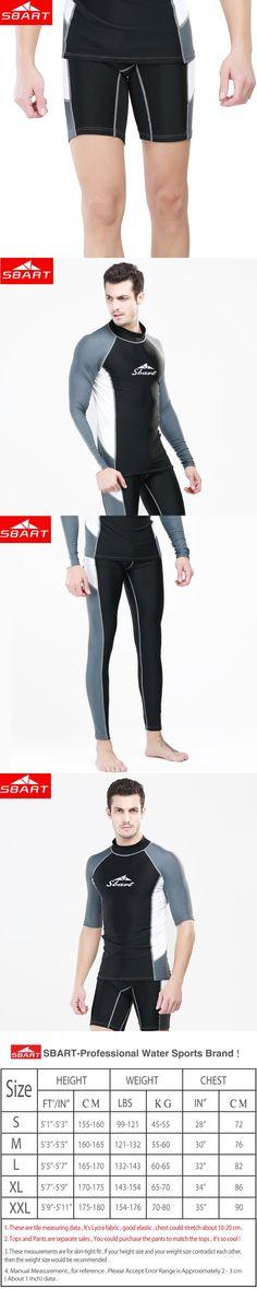 SBART Long Sleeve Surf Rashguard For Men Lycra Swimsuit UV Protection Windsurf Rash Guard Swimming Surfing Shirt Swimwear Tops J