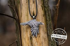 Odin Raven Viking Amulet Sterling Silver Pendant Scandinavian Norse Jewelry Necklace Viking Pendant Raven Pendant Viking Jewelry  Seller opened