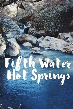 Fifth Water Hot Springs in Utah. This looks so pretty and fun!