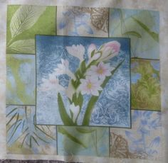 "Flower Square #2~11.5""x 12.5""~Hydrangea Radiance, Cotton Fabric,Floral, Wilmington Prints , F281 Fast Shipping"
