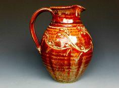 Flower Vase Pitcher Honey Glaze. $54.00, via Etsy.