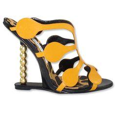 manolo blahnik sandals with a pearl column heel...wow.