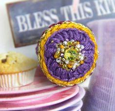 Häkelring, crochet jewelry