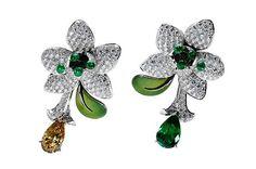Boucheron Fleurs Fatales - «Cuca India», earrings