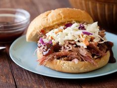 BBQ Pork Sandwich Status: Best ever, with west Carolina sauce from Weber's, and topped with cole slaw