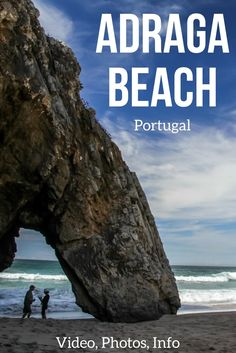 Discover the stunning Portugal beach of Praia da Adraga in the Sintra-Cascais National park - it has a beautiful arch and point black rock formations - Photos, Video and info to plan your visit | Portugal things to do | Portugal Travel Guide | Portugal things to do | Portugal Itinerary | Portugal photography | Portugal Travel Guide