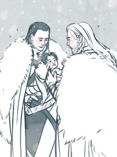 Loki and his wife had a baby and Loki's bringing little Loki Jr. to see Uncle Thor