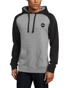#fleece #clothing Hurley Men's Flammo Brand Fleece Pullover, Heather Black, Small ($35.96). Get here!