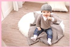 Knit a baby jacket, hat and blanket Baby outfit - initiative handmade Knit a baby jacket, hat and bl Baby Knitting Patterns, Knitting Designs, Crochet Patterns, Baby Outfits, Crochet Pullover Pattern, Knit Hat For Men, Baby Cardigan, Free Baby Stuff, Cute Baby Clothes