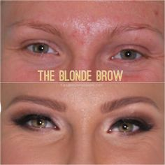 Tips to get a great color and shape for blonde brows!                                                                                                                                                                                 More