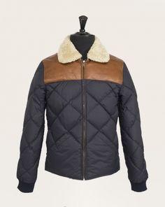 9564480eb7f1 Doudoune Homme Chevignon navy Hiver 2015 Leather