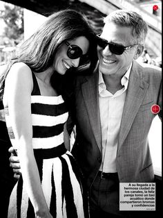George and Amal Clooney Amal Clooney, George Clooney, Celebrity Couples, Celebrity Style, Amal Alamuddin Style, Human Rights Lawyer, Stylish Couple, Photographs Of People, Hollywood Celebrities