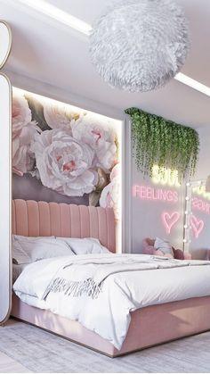 Bedroom Decor For Teen Girls, Cute Bedroom Ideas, Room Ideas Bedroom, Girls Bedroom Decorating, Girl Room Decor, Girly Bedroom Decor, Preppy Bedroom, Pastel Bedroom, Pink Bedrooms