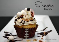 S'more Cupcake Recipe for football season party