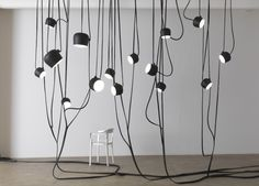 Lianes, Roches, Conques by Ronan & Erwan Bouroullec at Galerie Kreo - Flos