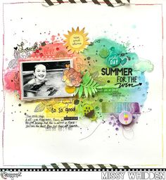 Shimmerz Education Team Project - lots of Coloringz, Vibez, Spritz; Shimmerz Stamps; odds and ends from my stash--Simple Stories stickers, die cuts & washi tape strips, MAMBI stickers; SpiegelMom Scraps sequins