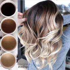 Ideas How To Do an Balayage Ombre Hair Color Brunette Color, Ombre Hair Color, Hair Color Balayage, Brown Hair Colors, Brunette Hair, Hair Highlights, Purple Hair, Hair Colours, Blonde Balayage