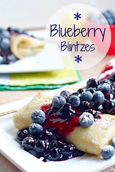 Blueberry Blintzes via @Amy Kritzer - What Jew Wanna Eat