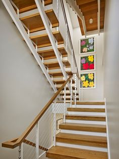 Stairs7 Bright and Inspiring Single Family House in New Jersey by McCoubrey / Overholser.Idea to replace mine.wonderful home
