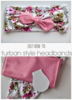 Turban Style Headband diy craft headband crafts diy crafts do it yourself diy projects sewing projects diy sewing projects diy and crafts Fabric Crafts, Sewing Crafts, Couture Bb, Creation Couture, Diy Hair Accessories, Sewing Accessories, Sewing Projects For Beginners, Baby Bows, Baby Crafts