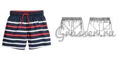 Выкройка детских шорт - №490, магазин выкроек grasser.ru #sewing_pattern #pattern #выкройка #выкройки