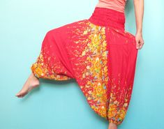 Batik Harem Pants Fisherman Boho Hippie Pants Yoga by myuniverse, $29.90