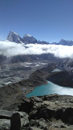Mountains in Nepal. View from Gokyo Ri