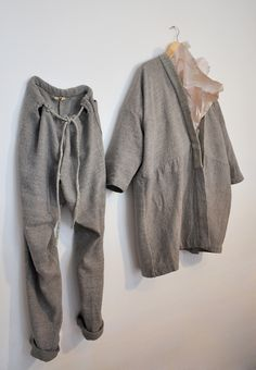 fininawasteofwaters:      Amy Revier  |  Egan Coat & Carson Trouser, hand dyed silk and linen, currently in Dover Street Market, London for SS13 (each piece is handwoven + one of a kind garment)