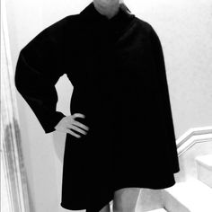 HOST PICK Fendi Black Fleece-Wool Coat. 44 NWT Fendi Black Fleece-Wool Mantlet Coat, Stunning Piece.  size 44, NWT FENDI Jackets & Coats