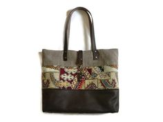 Unieke schoudertas  paisley gobelin canvas en door PippiesDesign