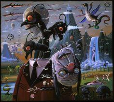 Artist: Joe Vaux - reminds me of Hieronymus Bosch