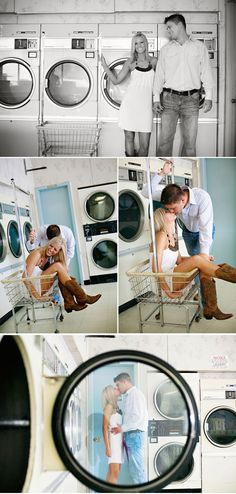 so different but so cute. Very creative location session for engagement. Mixing black and white with color is also nice.