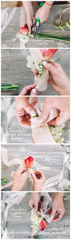 Wedding accesories for bridesmaids, flower bracelet, lace, wedding flowers DIY, handmade