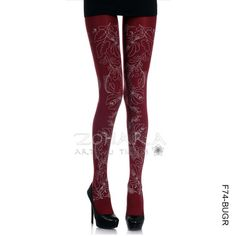 Flower Print Tights~~I'd so build an outift around these!