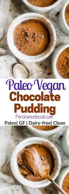 Paleo Vegan Chocolate Pudding (GF) | Perchance to Cook, www.perchancetocook.com